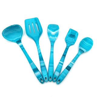 New marble effect silicone utensil set